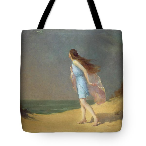 Girl On The Beach  Tote Bag by Frank Richards