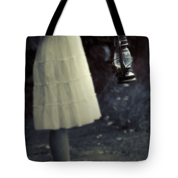Girl With An Oil Lamp Tote Bag by Joana Kruse