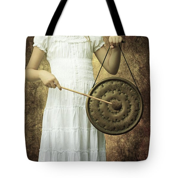 Girl With Gong Tote Bag by Joana Kruse