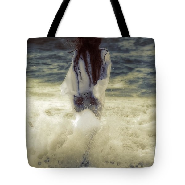 Girl With Teddy Tote Bag by Joana Kruse