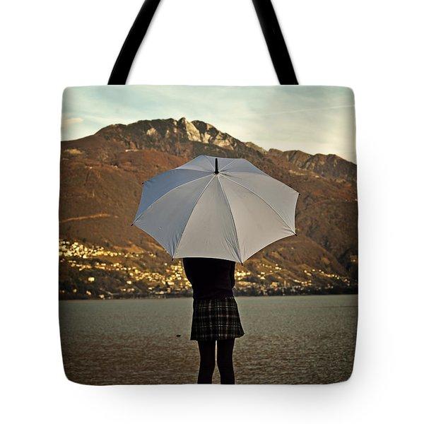 Girl With Umbrella Tote Bag by Joana Kruse