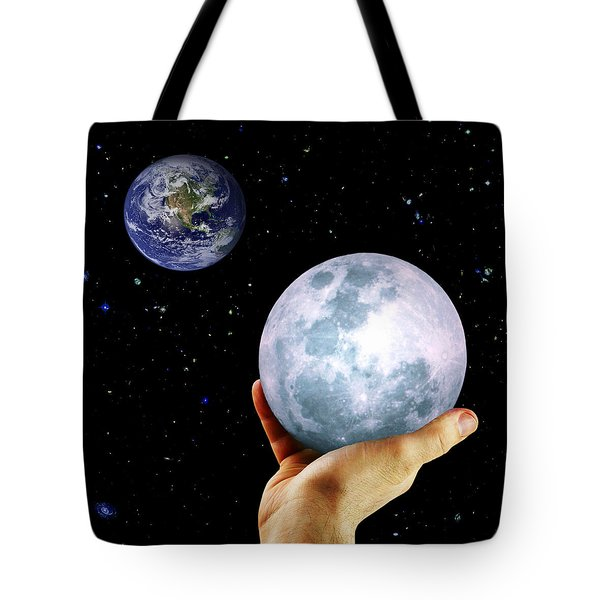 Give Her The Moon Tote Bag by Michele Cornelius