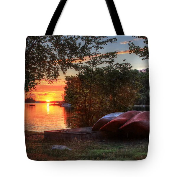 Give Me A Canoe Tote Bag by Lori Deiter