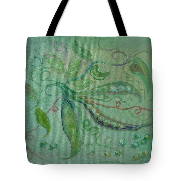 Tote Bag featuring the painting Give Peas A Chance by Carol Berning