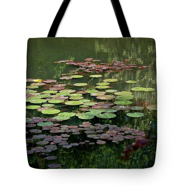 Giverny Lily Pads Tote Bag