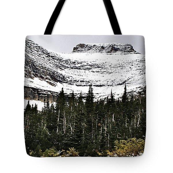 Glacier Park Bowlrock Tote Bag by Susan Kinney
