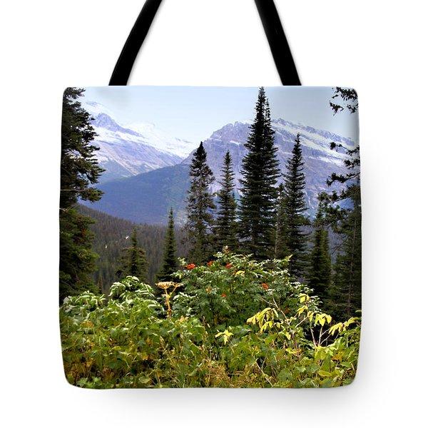Glacier Scenery Tote Bag
