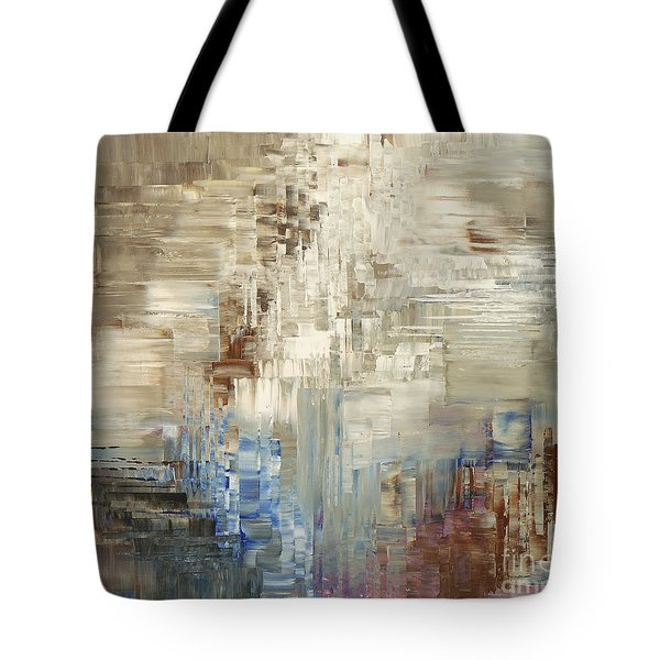 Tote Bag featuring the painting Glaciology by Tatiana Iliina