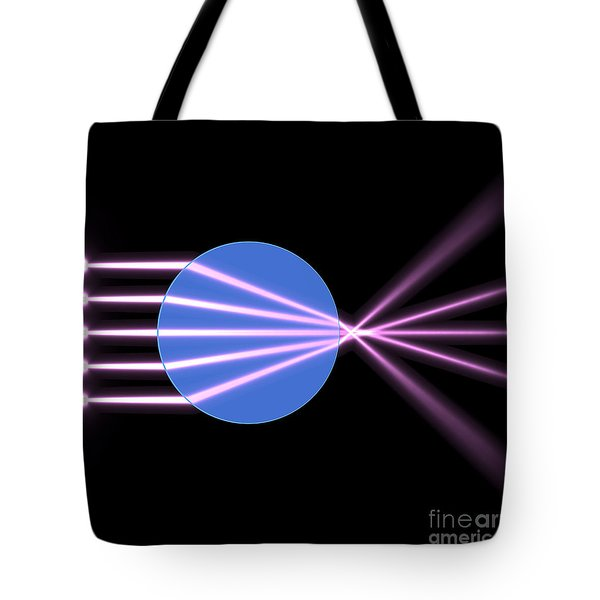 Tote Bag featuring the digital art Glass Ball 2 by Russell Kightley