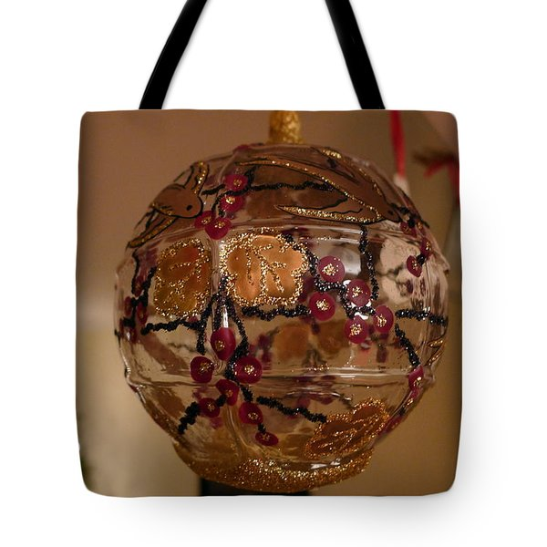 Tote Bag featuring the photograph Glass Bauble by Richard Reeve