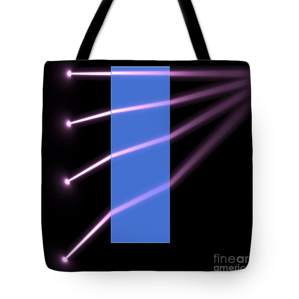 Tote Bag featuring the digital art Glass Block 2 by Russell Kightley