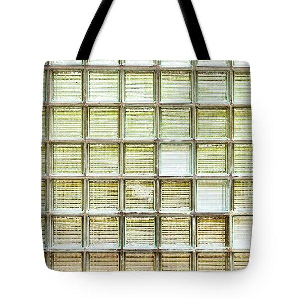 Glass Brick Wall Tote Bag by Tom Gowanlock