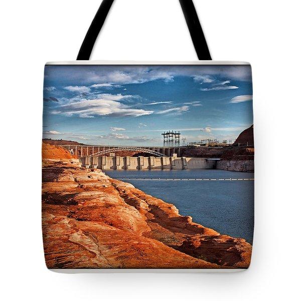 Glen Canyon Dam And Bridge Tote Bag