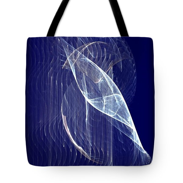 Tote Bag featuring the digital art Glimmer Fish by John Pangia