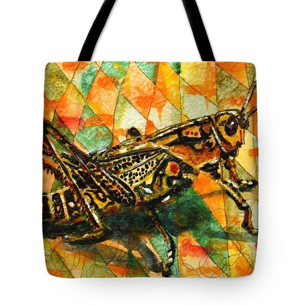 Glorious Grasshopper Tote Bag by Miriam  Schulman