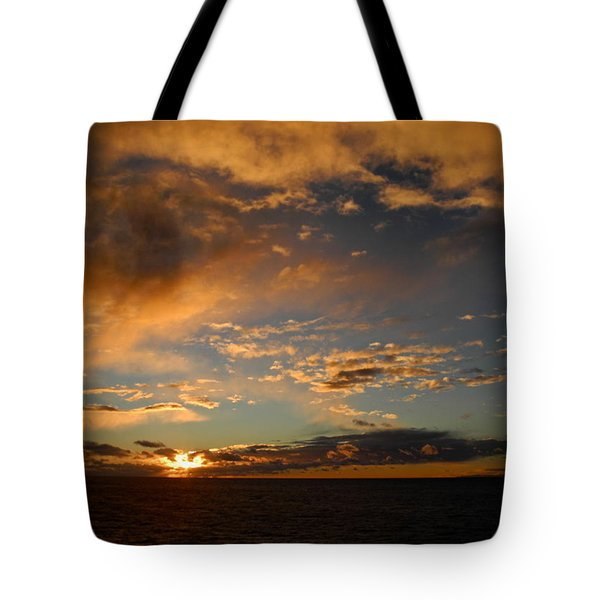Glorious Sunrise On The Indian Ocean Tote Bag
