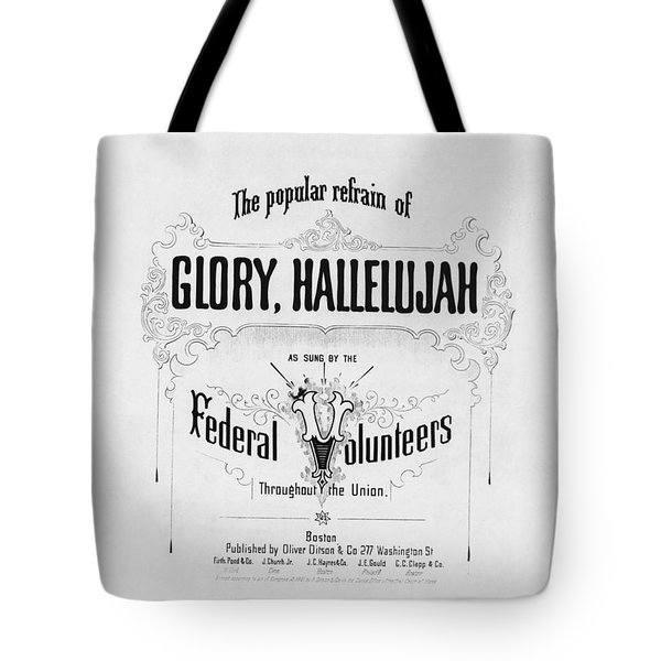 Glory, Hallelujah Tote Bag by Photo Researchers