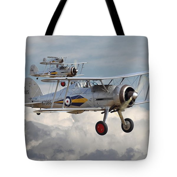 Gloster Gladiator Tote Bag by Pat Speirs