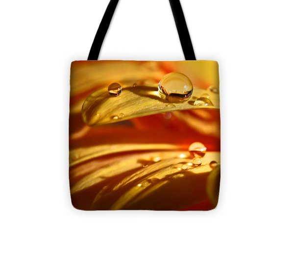 Glowing Amber Tote Bag by Tracy  Hall