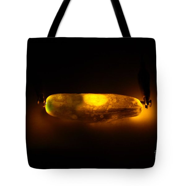 Glowing Electric Pickle 2 Of 2 Tote Bag by Ted Kinsman