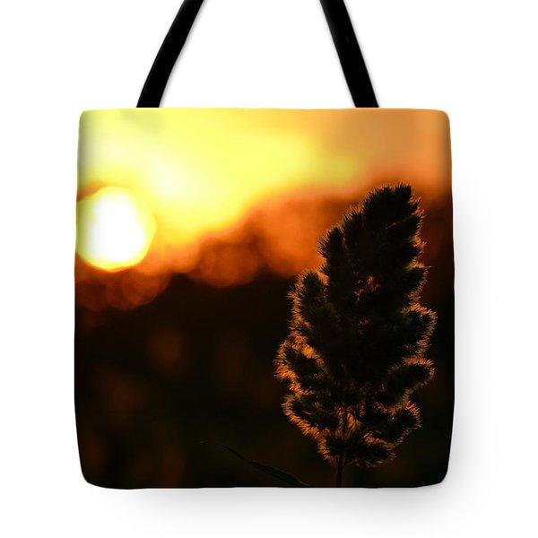 Glowing Leaf Tote Bag