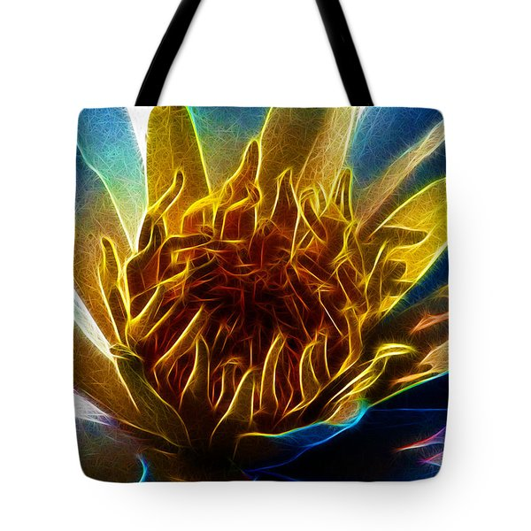 Glowing Lotus Tote Bag