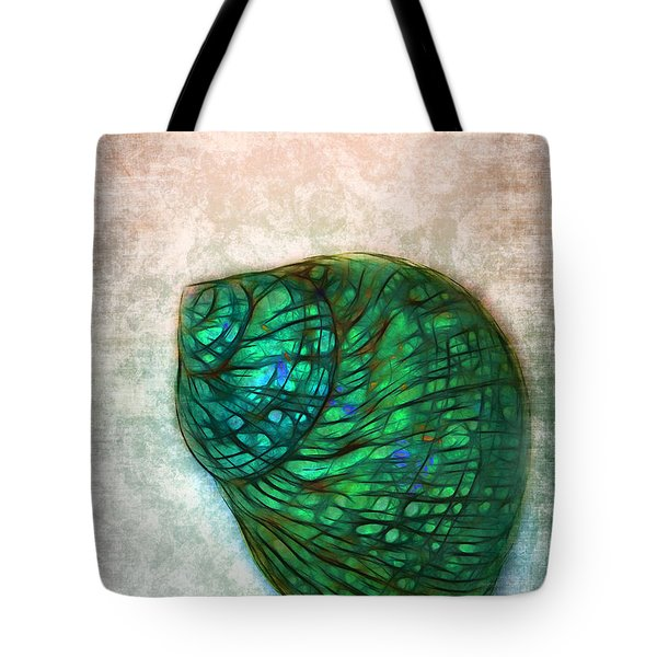 Glowing Seashell Tote Bag by Judi Bagwell