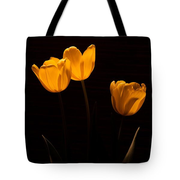 Tote Bag featuring the photograph Glowing Tulips by Ed Gleichman