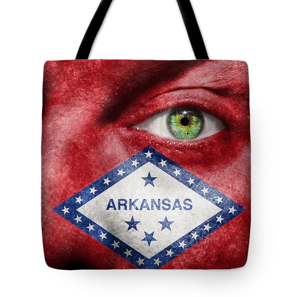 Go Arkansas  Tote Bag by Semmick Photo