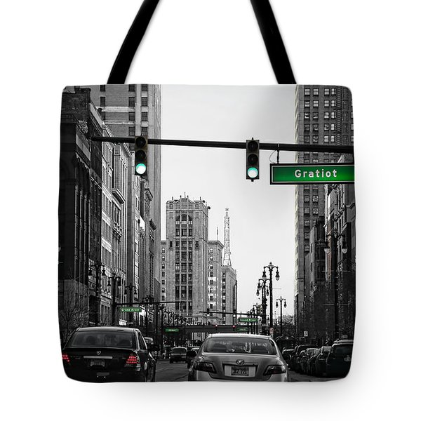 Go Go Gratiot Tote Bag by Gordon Dean II