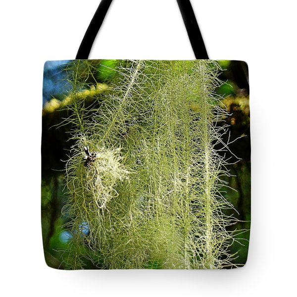 Tote Bag featuring the photograph Goat's Beard Lichen by Nick Kloepping