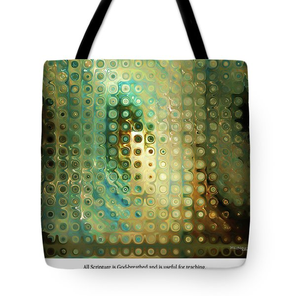 God-breathed. Christian Poster Tote Bag by Mark Lawrence
