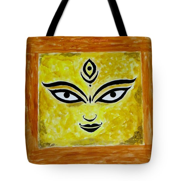 Tote Bag featuring the painting Goddess Kali by Sonali Gangane
