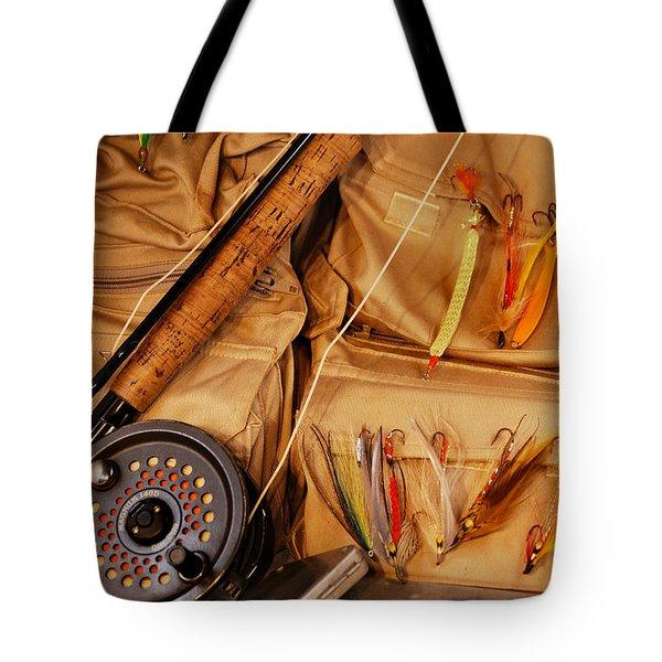 Goin Fishin Tote Bag by Skip Willits