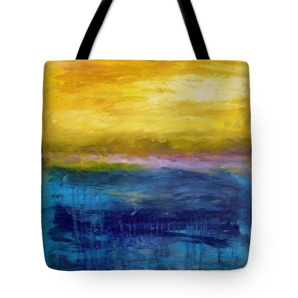 Gold And Pink Sunset Ll Tote Bag by Michelle Calkins