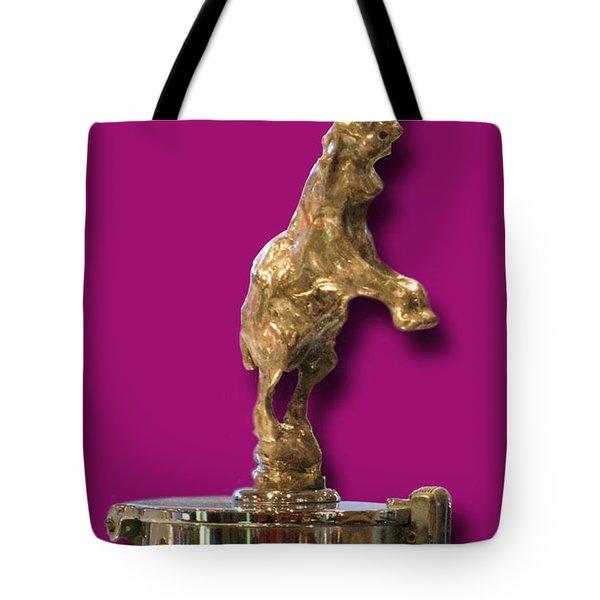 Gold Buggatti Mascot Tote Bag by Jack Pumphrey
