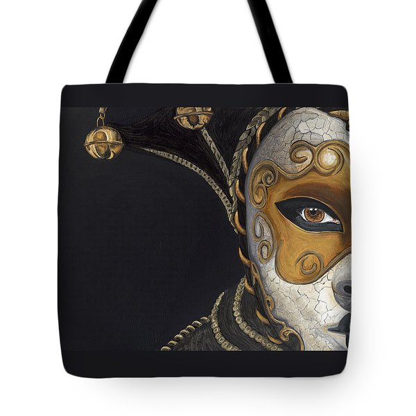 Gold Carnival Mask Tote Bag