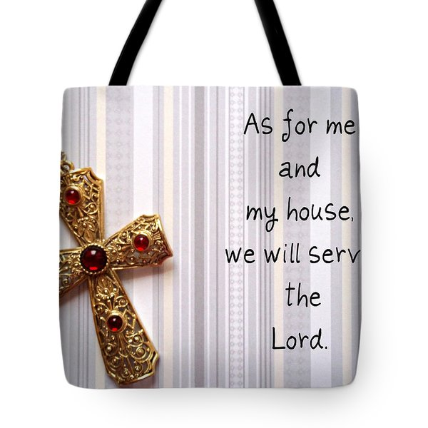 Gold Cross Tote Bag by Cynthia Amaral