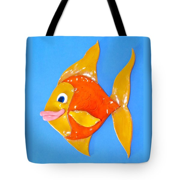 Gold Fish Tote Bag by Kimberly Castor