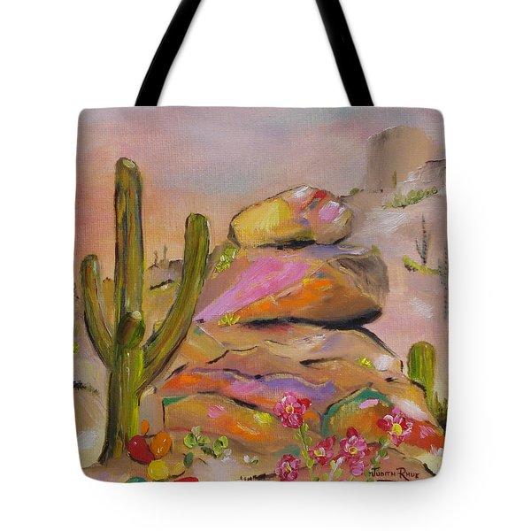Gold-lined Rocks Tote Bag