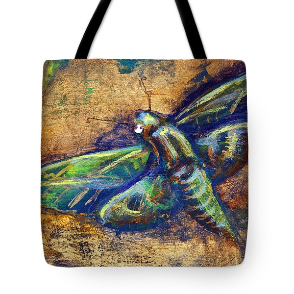 Gold Moth Tote Bag