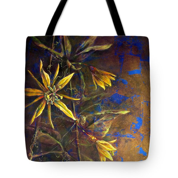 Tote Bag featuring the painting Gold Passions by Ashley Kujan