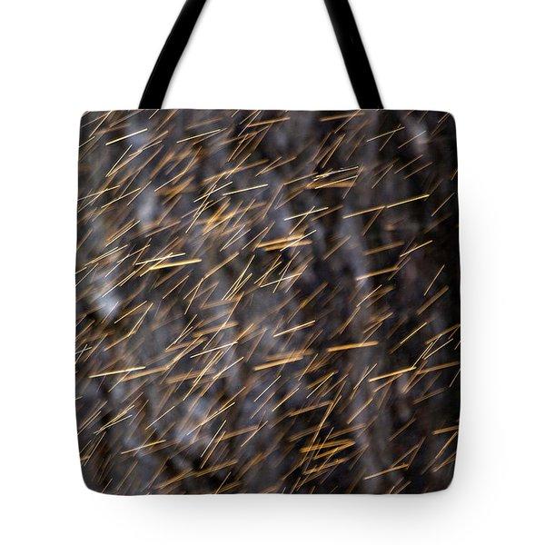 Gold Rain Tote Bag