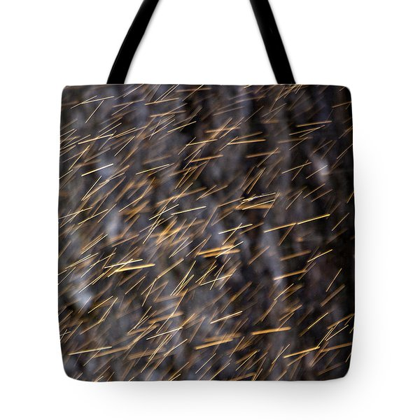 Gold Rain Tote Bag