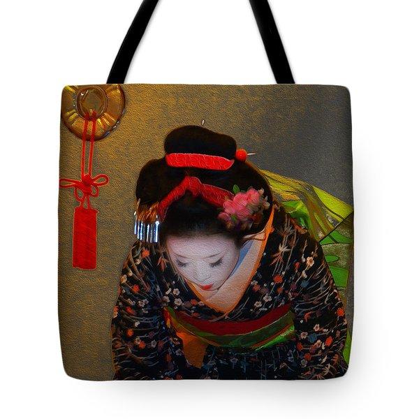 Golden Arigato Tote Bag