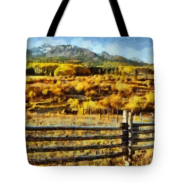 Golden Autumn Tote Bag by Jeff Kolker