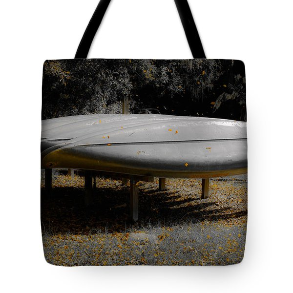 Golden Autumn Shower Tote Bag by DigiArt Diaries by Vicky B Fuller