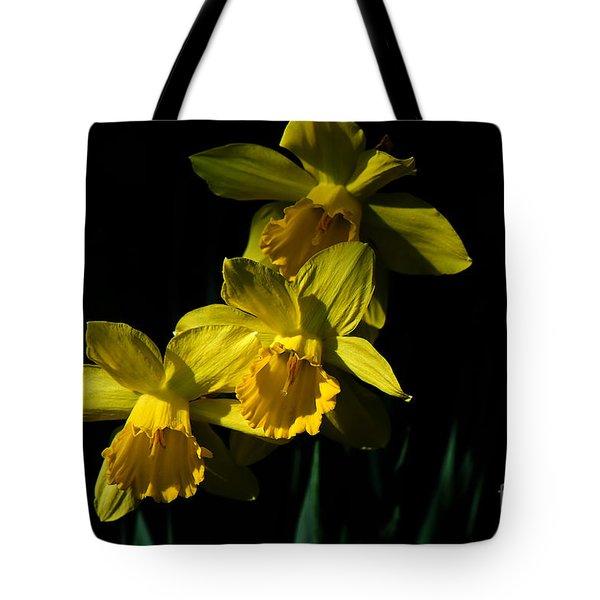 Golden Bells Tote Bag by Lois Bryan
