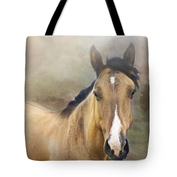 Golden Tote Bag by Betty LaRue