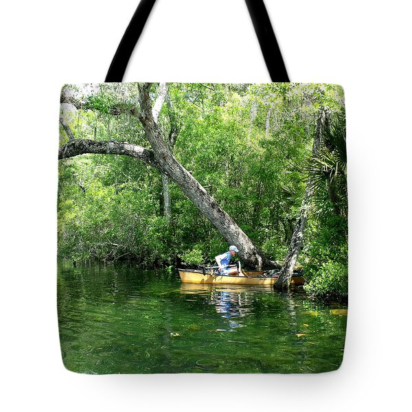 Golden Canoe Launch Tote Bag